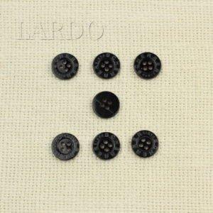 Пуговица перламутр ∅ 1,8 см чёрная