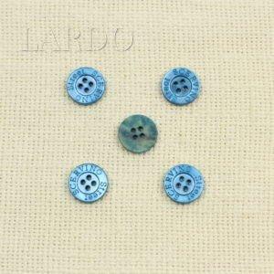 Пуговица перламутр ∅ 1,5 см синяя