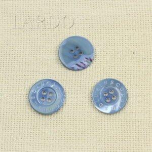 Пуговица перламутр серо-голубой ∅ 2,5 см