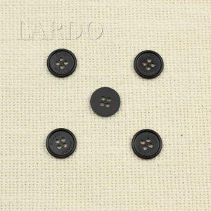 Пуговица перламутр матовый ∅ 1,5 см чёрного цвета