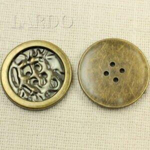 Пуговица пластик ∅ 4,9 см оксид бронзового цвета