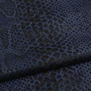 Замша питон (искусственная) синяя