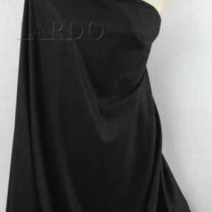 Замша (искусственная) чёрная