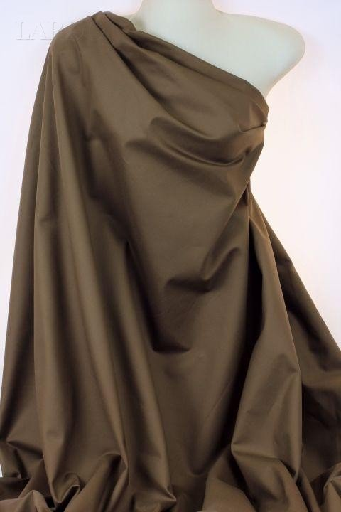 Сатин стретч хлопок коричневый