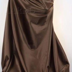Сатин (атлас) стретч коричневый