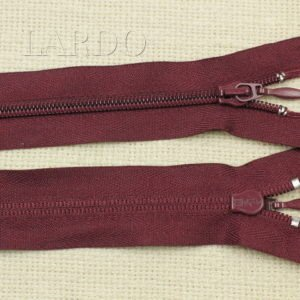 Молния UNIZIP разъёмная, однозамковая, 100 см, №4, тёмно-бордовая