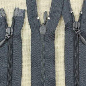 Молния UNIZIP разъёмная, двухзамковая, 100 см, №4, тёмно-серая