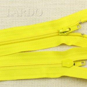 Молния YKK разъёмная, однозамковая, 55 см, №4, жёлтая
