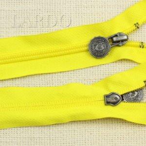 Молния разъёмная, однозамковая, 71 см, №5, жёлтая
