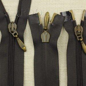Молния разъёмная, двухзамковая, 70 см, №5, тёмно-коричневая