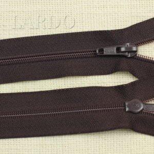 Молния разъёмная, однозамковая, 70 см, №5, тёмно-коричневая