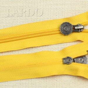 Молния разъёмная, однозамковая, 75 см, №5, жёлтая