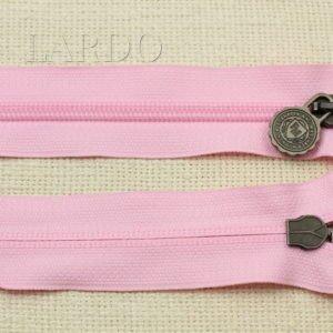 Молния разъёмная, двухзамковая, 52 см, №5, тёмно-розовая