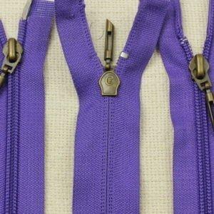 Молния CF разъёмная, двухзамковая, 100 см, №5, фиолетовая