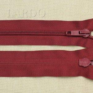 Молния UNIZIP разъёмная, однозамковая, 60 см, №5, бордовая