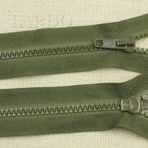 Молния LAMPO ТРАКТОР, разъёмная, однозамковая, 75 см, №5, зелёная