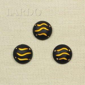 Пуговица герб рог/металлическая ножка ∅ 3,8 см