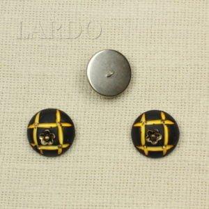 Пуговица на ножке рог герб ∅ 3,8 см бежевого цвета
