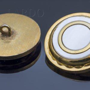 Пуговица металл/перламутр ∅ 2,2 см