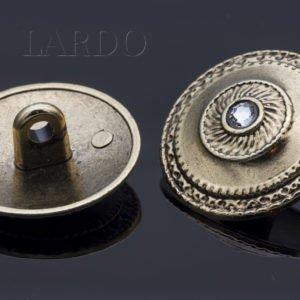 Пуговица металл со стразами Сваровски