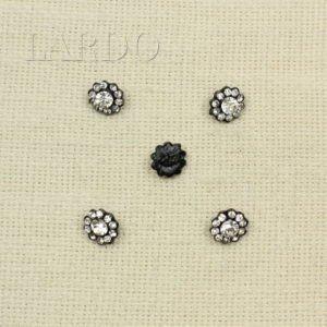 Пуговица металл со стразами Сваровски ∅ 1,1 см