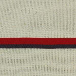 Киперная лента ширина 1,5 см красно-серая