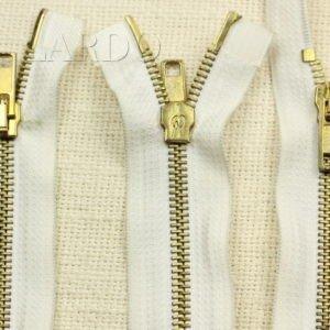 Молния Zip разъёмная, однозамковая, 18 см, №5, бело-голубая