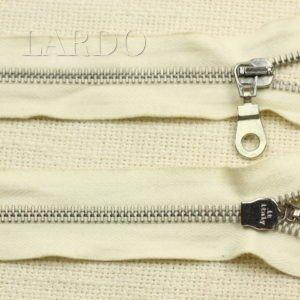 Молния LAMPO разъёмная, двухзамковая, 50 см, №5, белая