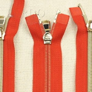 Молния KEE разъёмная, металлизированная, двухзамковая, 48 см, №5, красная