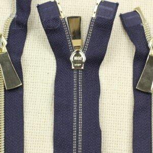 Молния KEE разъёмная, металлизированная, двухзамковая, 67 см, №5, тёмно-синяя