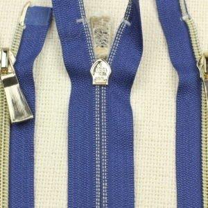 Молния KEE разъёмная, металлизированная, двухзамковая, 64 см, №5, синяя