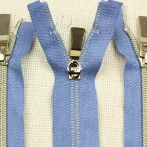 Молния KEE разъёмная, металлизированная, двухзамковая, 65 см, №5, голубая