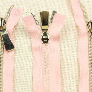 Молния KEE разъёмная, металлизированная, двухзамковая, 68 см, №5, розовая