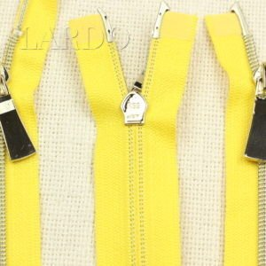 Молния KEE разъёмная, металлизированная, двухзамковая, 70 см, №5, жёлтая