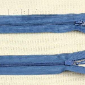 Молния ПОТАЙНАЯ, разъёмная, однозамковая, 37 см, №3, синяя