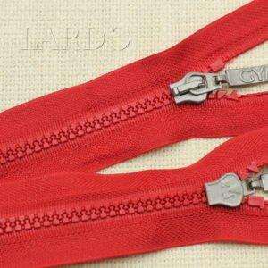 Молния ТРАКТОР, разъёмная, однозамковая, 54 см, №5, красная