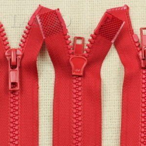 Молния ТРАКТОР, разъёмная, двухзамковая, 50 см, №5, красная