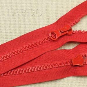 Молния ТРАКТОР, разъёмная, однозамковая, 59 см, №5, красная