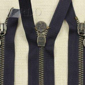Молния PINCO PALLINO разъёмная, двухзамковая, 40 см, №5, тёмно-синяя