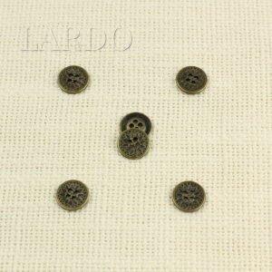Пуговица металл никель ∅ 1,2 см