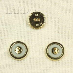 Пуговица пластик ∅ 2,6 см светло-серая и золотистая