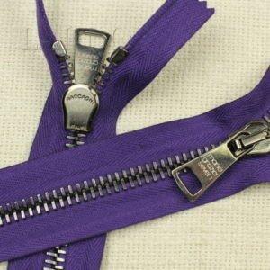 Молния RACCAGNI неразъёмная, однозамковая, 25 см, №8, фиолетовая