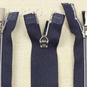 Молния KEE разъёмная, металлизированная, двухзамковая, 42 см, №5, тёмно-синяя