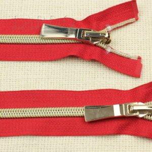 Молния KEE разъёмная, однозамковая, реверс (перекидной бегунок) 50 см, №5, красная