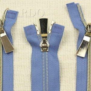 Молния KEE разъёмная, металлизированная, двухзамковая, 56 см, №5, тёмно-голубая