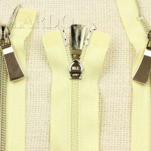 Молния KEE разъёмная, металлизированная, двухзамковая, 60 см, №5, жёлтая