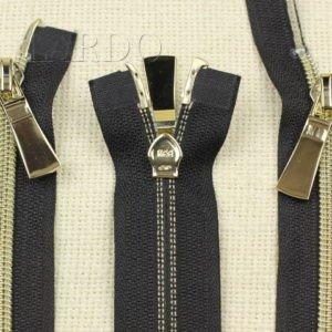 Молния KEE разъёмная, металлизированная, двухзамковая, 60 см, №5, тёмно-синяя