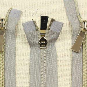 Молния KEE разъёмная, металлизированная, двухзамковая, 88 см, №5, серая