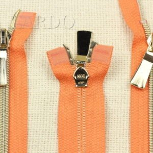 Молния KEE разъёмная, металлизированная, двухзамковая, 90 см, №5, оранжевая
