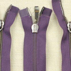 Молния ZIP разъёмная, металлизированная, двухзамковая, 40 см, №5, фиолетовая